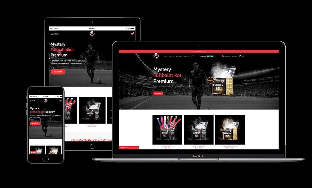 Mystery Fussball Box - Mystery Voetbalshirt website presentatie